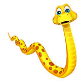 Fun walk  Snake cartoon character Royalty Free Stock Images