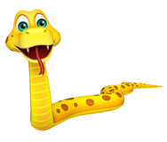 Fun walk Snake cartoon character Royalty Free Stock Image