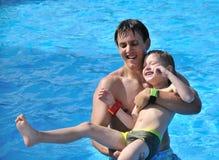 Fun in water stock photo