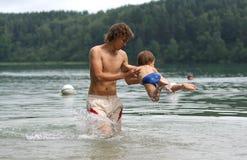 Fun in the water stock photos
