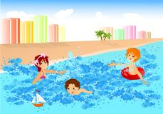 Fun in the water, cdr vector Royalty Free Stock Photography