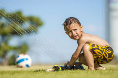 Fun with water Royalty Free Stock Images