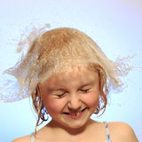 Fun with water hat Royalty Free Stock Photos