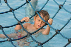 Fun in water park Royalty Free Stock Photography