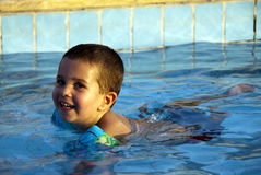Fun in the water pool Stock Photo