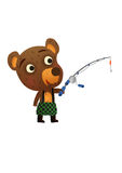 Fun Wild Bear Fishing Royalty Free Stock Photography