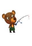 Fun Wild Bear Fishing Royalty Free Stock Photography