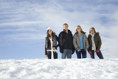 A fun winter Day in the Snow Royalty Free Stock Images