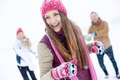Fun in winter Stock Image