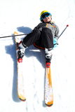 Fun at winter sport Stock Images