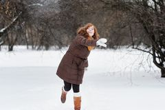 Fun in winter Royalty Free Stock Images