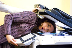 Fun With The Copier Royalty Free Stock Image