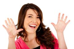Fun woman portrait Stock Photography