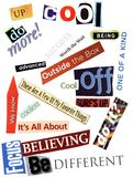 Fun Word Collage Texture Stock Photography