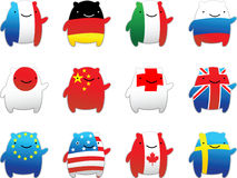 Fun World Flags Royalty Free Stock Images