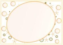 Fun XO Photo Frame. Fun Photo XO oval photo frame design vector illustration