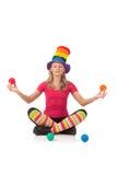 Fun yoga: colorful lotus Stock Photos
