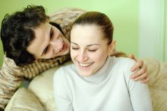 Fun young couple. Stock Images