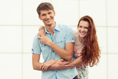 Fun young couple portrait Stock Images