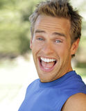 Fun young guy stock photography