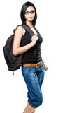Fun young student girl. Stock Photography