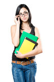 Fun young student girl. Royalty Free Stock Photo