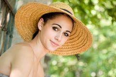 Fun young summer brunette. Stock Photos