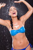 Fun water splashes Stock Images