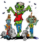 Fun zombie cartoon Royalty Free Stock Images