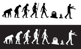 Zombie Evolution. A fun zombie themed design great for tshirts , zombie parties and product design royalty free illustration