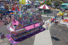 Fun Zone and food at the San Diego Fair Stock Photography
