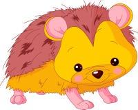 Fun zoo. Hedgehog royalty free stock image