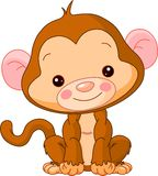 Fun zoo. Monkey vector illustration