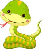 Fun zoo. Snake vector illustration