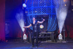 The fun Zyair Circus show. Bognor Regis, APR 10: The fun Zyair Circus show with Chinese YoYo on APR 10, 2016 at Bognor Regist Stock Photography