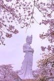 Funaoka fred Kannon (den Guanyin bodhisattvaen) arkivfoto