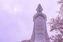 Funaoka fred Kannon (den Guanyin bodhisattvaen) royaltyfri bild