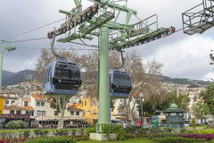 Funchal Cable car Stock Photo