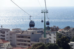 Funchal Cable cars Stock Images