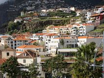Funchal is the Capital of the island of Madeira. Hotel and apartments are beautifully laid out. Funchal is the Capital of the island of Madeira. The distinctive Stock Image