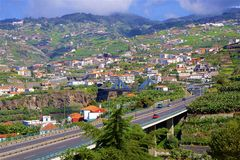 Funchal city centre, MAdeira, Portugal Royalty Free Stock Images