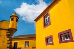 Funchal City Fort, Madeira. Sao Tiago Fort, Funchal Old Town, Madeira Stock Photo