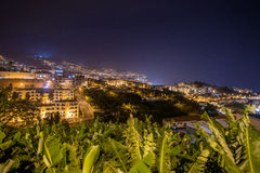 Funchal city night, Madeira Island, Portugal Stock Photography