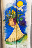 Funchal - de kunst van open deur in de straat van Santa Maria Een project dat aan ` open ` de stad aan artistieke en culturele vo Royalty-vrije Stock Foto's