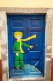 Funchal - de kunst van open deur in de straat van Santa Maria Een project dat aan ` open ` de stad aan artistieke en culturele vo Stock Afbeelding