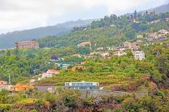 Funchal-Drahtseilbahn Jardim Botanico, Madeira Stockbild