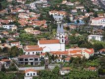 Funchal es la capital de la isla de Madeira aquí están muchas iglesias en la ciudad y las vecindades Fotos de archivo libres de regalías