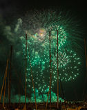 Funchal Fireworks Royalty Free Stock Image