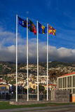 Funchal Flagpoles Royalty Free Stock Photos