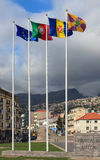 Funchal Flagpoles Royalty Free Stock Photo
